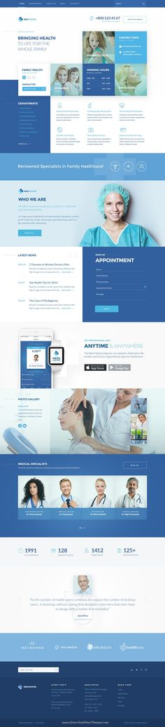 Zodiac is clean and modern design multipurpose PSD #template for creative #medical services website with 8 niche homepage layouts and 56 layered PSD pages to live preview & download click on Visit #psdmockups