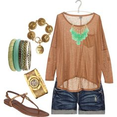cute summer, created by hcopeland.polyvor...