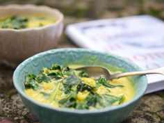 "Julie Montagu, The Flexi Foodie: Warm Dal with Spinach (from ""tibits at home"" cookbook)"