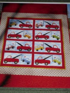 tow truck theme blanket. I NEED this for Michael's tow truck nursery!!!
