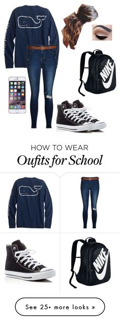 """School"" by elenaj07 on Polyvore featuring Converse, Ted Baker and NIKE"