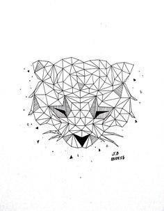 Geometric Raccoon by LYB168.deviantart.com on @DeviantArt