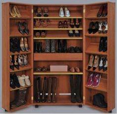 Getting Organized -- Fold Up Shoe Storage