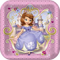 Disney Junior Sofia the First Square Dinner Plates, 88398