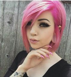 dusty pink hair