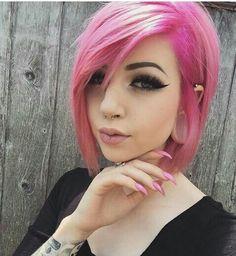 dusty pink hair
