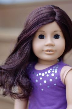 w/ Jess wig and brown eyes. She looks absolutely gorgeous! They should do the new BeForever to look like her! Custom American Girl Dolls, American Girl Doll Pictures, Custom Dolls, Brown Skin, Brown Eyes, Ag Hair Products, Ag Dolls, Doll Shoes, Absolutely Gorgeous