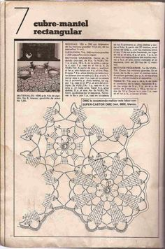 #19 Cubre-Mantel Rectangular a Crochet