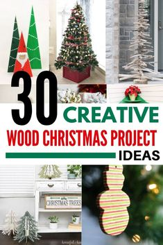 Turn your scrap wood pile into festive holiday cheer with these creative DIY wood Christmas decorations! You'll find ideas for wooden Christmas trees, stocking holders and more! Christmas Tree Poinsettia, Christmas Tree Light Up, Pallet Wood Christmas Tree, Christmas Tree Village, Christmas Tree Box Stand, Driftwood Christmas Tree, Merry Christmas, Cottage Christmas, Christmas Tree Cards