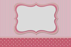 Pink and White Stripes and Polka Dots Free Printable Invitations. Free Printable Invitations, Printable Labels, Free Printables, Dots Free, Baby Images, Borders And Frames, Pink And White Stripes, Binder Covers, Baby Cards