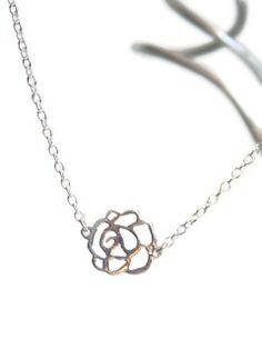 Silver Rosette Necklace