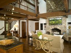 I love the rustic but elegant look of this home.