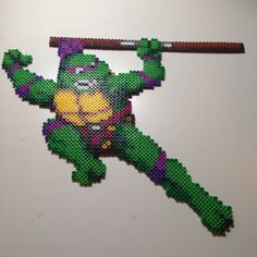 TMNT Turtles in Time Donatello perler beads by PhilthyTurtlePerler