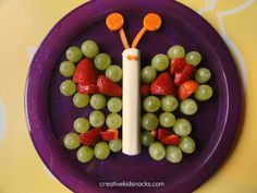 Butterfly snack- healthy snacks for kids Repinned by Apraxia Kids Learning. Come join us on Facebook at Apraxia Kids Learning Activities and Support- Parent Led Group.