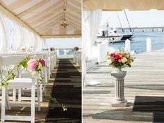 Coral and Pink Harbor-front Wedding at Regatta Place, Newport, RI   Photography by Meghan Sepe       #VisitRhodeIsland