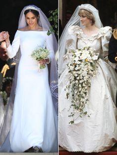Princess Diana's Wedding Dress Designer Praises Meghan Markle's Elegant and Classic Gown Blue Wedding Dresses, Elegant Wedding Dress, Designer Wedding Dresses, Wedding Gowns, Fox Wedding, Wedding Hair, Wedding Ceremony, Princess Diana Wedding Dress, Princess Diana Family
