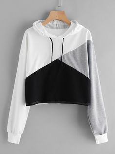 Shop Cut And Sew Panel Crop Hoodie online. SheIn offers Cut And Sew Panel Crop Hoodie & more to fit your fashionable needs.