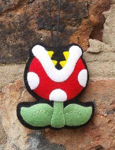 Cute Mario Felt Ornaments   I love these!