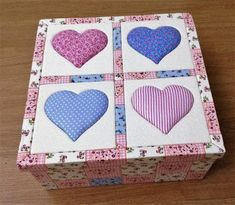 Delicadezas de Mamãe: Caixas Decoradas Decoupage, Applique Templates, Coasters, Diy And Crafts, Patches, Cartoon, Box, Design, Cami