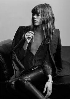 Freja Beha Erichsen for Saint Laurent Pre-Fall 2013 Campaign