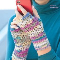 One Skein Lace Mitts - free pattern