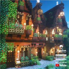 Minecraft Building Designs, Minecraft House Plans, Minecraft Structures, Minecraft Houses Survival, Minecraft Cottage, Minecraft Castle, Minecraft Medieval, Cute Minecraft Houses, Amazing Minecraft