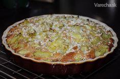 Rebarborový koláč zo špaldovej múky