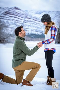 Snowy Marriage Porposal