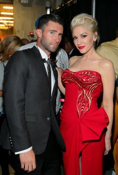 Pin for Later: These Can't-Miss Grammys Moments Weren't on TV Adam Levine and Gwen Stefani