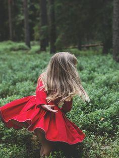 red twirly dress