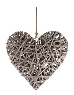 Feel the live with this large rattan hanging heart.  Priced at £8.