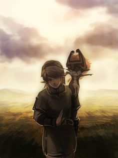 Link and Midna.