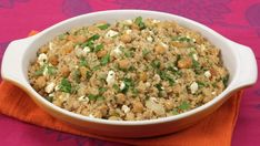 Chickpea, Feta and Raisin Couscous - Recipes - Best Recipes Ever Pasta Side Dishes, Pasta Sides, Main Dishes, Lunch Recipes, Healthy Recipes, What Is For Dinner, Couscous Recipes, Best Food Ever, Middle Eastern Recipes
