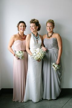 pastel bridesmaids' dresses, photo by CarolineRo http://ruffledblog.com/charity-inspired-wedding-ideas #bridesmaid #dresses #wedding