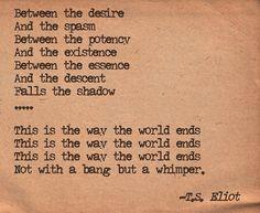 T.S. Eliot -  The Hollow Men