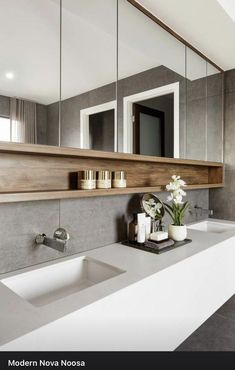 Committing to a contemporary bathroom design can be a space-saving and rewarding decision. There are two different types of contemporary … Contemporary Bathroom Designs, Bathroom Layout, Modern Bathroom Design, Bathroom Interior Design, Contemporary Design, Bath Design, Tile Layout, Minimal Bathroom, Modern Bathrooms