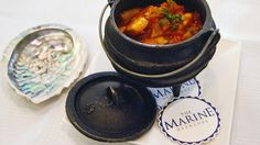 At The Marine Hermanus, order up the perlemoen potjiekos, an abalone, whitefish and tomato stew!