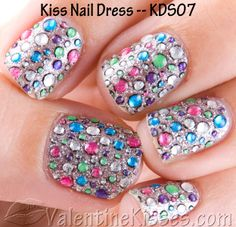 Kiss nail dress....these look great! I know from experience!