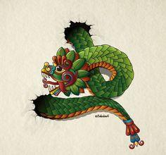 quetzalcoatl serpiente emplumada wallpaper - Buscar con Google