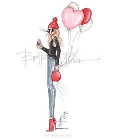 ❤️ #LOVEYOURSELF Series @brittanyfuson #FashionIllustrations  Be Inspirational ❥ Mz. Manerz: Being well dressed is a beautiful form of confidence, happiness & politeness
