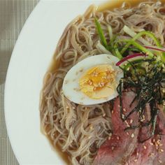 Try this Naeng-Myeon Ice-Cold Noodles           recipe by Chef Judy Joo. This recipe is from the show Korean Food Made Simple.