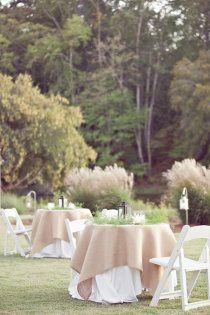 Love These Table Cloths With The Burlap #wedding, #weddings, #pinsland, https://apps.facebook.com/yangutu