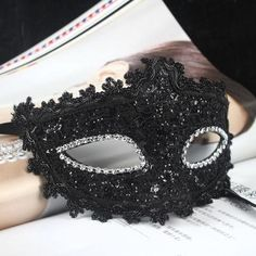 2013 New exquisite Venetian lace princess mask masquerade Halloween black Mask