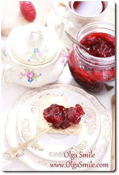 Dżem truskawkowy Sweet Jars, Preserves, Pickles, Panna Cotta, Good Food, Pudding, Bread, Dishes, Vegetables