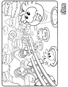 Best Club Penguin Coloring Pages To Print