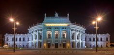 Another famous building from Vienna, the Burgtheater. It is also a shot from my nightly photowalk through Vienna. Short text because the flu has catched me. Famous Buildings, Vienna, Cities, Louvre, Mansions, Architecture, House Styles, Travel, Image