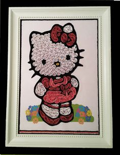 Hello Kitty Quilling Paper Art by windcrafts2015 on Etsy