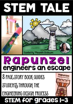 STEM activity for elementary students - combines the story of Rapunzel with a hands-on activity that guides students through the engineering design process. Steam Activities, Science Activities, Science Ideas, Science Experiments, Elementary Science, Teaching Science, Teaching Ideas, Elementary Teaching, Science Classroom