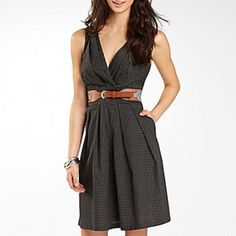 Belted v-neck |Pinned from PinTo for iPad|