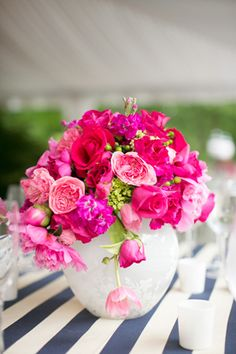 Preppy Pink and Navy Wedding by Events in the City « Southern Weddings Magazine